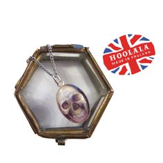 OOAK The Ossuary Vintage Bone Box and Skull Charm by hoolala, $42.00