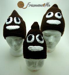Crochet Poop Emoji Hat Pattern by Francesca4me on Etsy