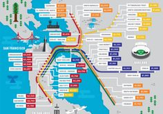 This Map Prices Rent by BART Stop — Design News