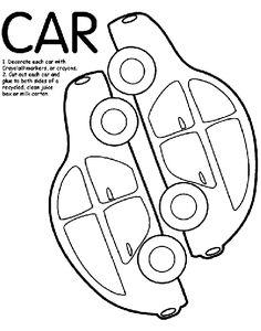 Car Box coloring page