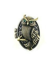 """**Coupon Code!** This darling owl locket ring is only $9.60! plus, get 10% off your entire order & FREE shipping with discount code """"0209"""" at checkout! while supplies last.."""