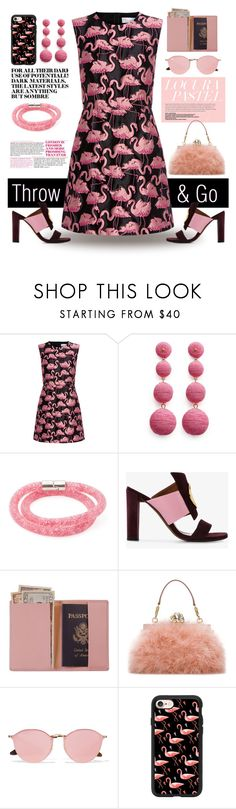 """Throw & Go Dress"" by rehtaeh69 ❤ liked on Polyvore featuring RED Valentino, Kenneth Jay Lane, Swarovski, Neous, Royce Leather, Dolce&Gabbana, Ray-Ban, Casetify and throwandgo"