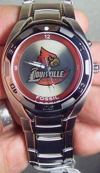 Louisville Cardinals Fossil Kaleido Flashing Logo Watch by Fossil. $84.00. Luminous dials. Water resistant to 5 ATM (50 Meters, 165 feet). Patented Kaleido Flashing logo technology. Manufacturers 11 year limited warranty. image  Louisville Cardinals Fossil Kaleido Watch Men's Li2368 Flashing logo   Louisville Cardinals Fossil Kaleido Watch Men's Li2368 Flashing logo Manufacturer: Fossil SKU: LuisvKalLi2368 MPN: Li2368 UPC: 691464044961 Price: $79.00  Quantity:     L...