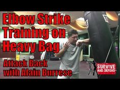 Elbow Strike Training on Heavy Bag with Alain Burrese