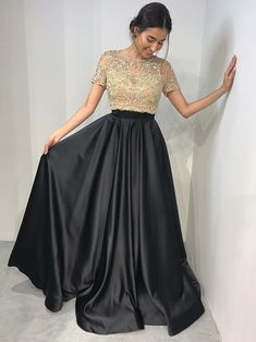Black Two Pieces Prom Dress, Back To School Dresses, Prom Dresses For Teens, Pageant Dress, Graduation Party Dresses Best Formal Dresses, Prom Dresses Two Piece, Prom Dresses For Teens, Prom Dresses 2018, Prom Dresses With Sleeves, Black Prom Dresses, Simple Dresses, Short Dresses, Dress Black