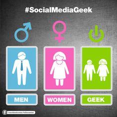 #SocialMediaGeek … und zu welchem Geschlecht gehört ihr?
