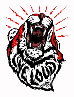 Japanese Embroidery Tiger The concept behind this piece uses a roaring tiger as the imagery to encourage us to be outspoken for those who lack the ability to voice their needs. Live loud for autism. Design, Japanese Embroidery, Inspiration, Illustration, Urban Art, Imagery, Art, Graphic Art, Vector Art