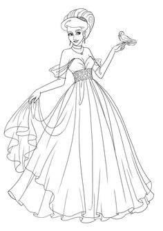 Commission - Princess Saria - Lineart by Paola-Tosca.deviantart.com on @DeviantArt