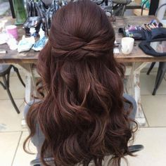 37 beautiful half up half down hairstyles for the modern bride 37 beautiful half up half down hairstyles_twisted hair 7 Wedding Hair Half, Wedding Hairstyles Half Up Half Down, Wedding Guest Hairstyles, Wedding Hair And Makeup, Prom Hairstyles, Popular Hairstyles, Half Up Half Down Hairstyles, Bridal Half Up Half Down, Hairstyle Ideas