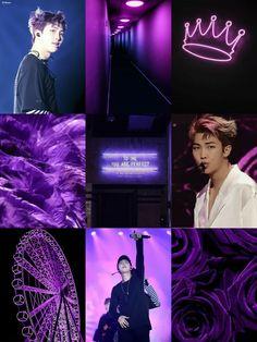 Rap Monster/ Namjoon Moodboard #Moodboard #RM #RapMon #RapMonster #BTS #purple