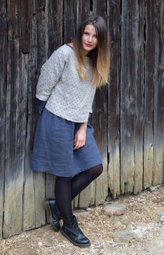 Soft linen dress and loose blouse by ANAandMElinenandwool on Etsy