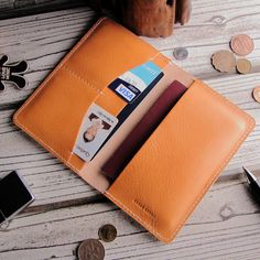 Free shipping New arrive 100% genuine leather Travel passport credit ID card cash holder organizer wallet purse case bag
