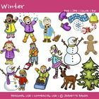 Winter Clip Art by Jeanette BakerFile includes 17 unique custom drawn winter themed clipart images by Jeanette Baker IN BOTH COLOR AND B/W OUTLIN... $3.00