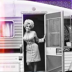 """""""When I'm home, I spend Sunday with my husband Carl. If we're not cooking, we travel around in our camper, stop at fast-food restaurants, and picnic. We love that stuff that will harden your arteries in a hurry.""""- Dolly Parton  #toclosetohome #vintagetrailer #dollysundays"""