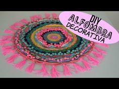 VITT - DIY today - Make a T-Shirt Rug Using a Hula Hoop - YouTube