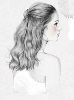 Le Fashion Blog Beauty Post Gym Hair Inspiration Round Circle Hair Clip Wavy Half Updo Hairstyle Esra Roise Illustration Via Urban Outfitters