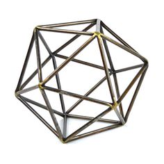 Galt International Metal Icosahedron Ball Décor (26 CAD) ❤ liked on Polyvore featuring home, home decor, holiday decorations, decor, filler and metal home decor
