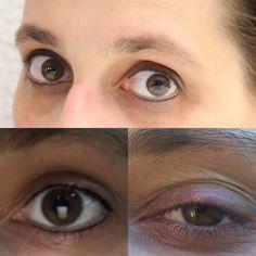 Oben abgeheilte Augen Permanent make up Links kurz nach PMU Rechts Vorcher