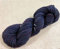 Hand dyed sock yarn - semi solid navy blue and red purple highlights Best Ballpoint Pen, Red Purple, Navy Blue, Purple Highlights, Sock Yarn, Hand Dyed Yarn, Needles Sizes, Lace Knitting, Throw Pillows
