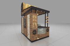 Stand design for a bakery brand Kiosk Design, Bakery Design, Booth Design, Store Design, Exhibition Stand Design, Exhibition Booth, Small Bakery, Bakery Branding, Food Kiosk