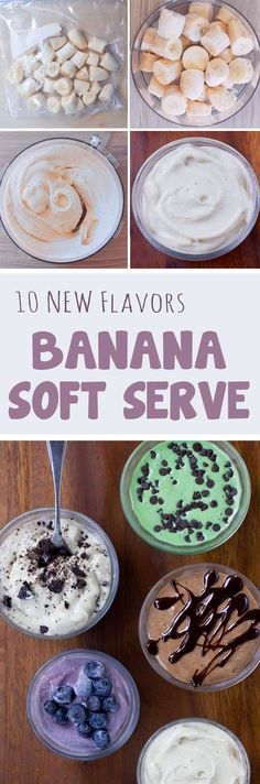 Ten flavors of creamy vegan banana ice cream you can make at home, with just a…