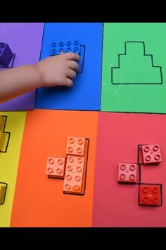 Color block puzzles Puzzle from Lego Duplo. To promote the spatial imagination or whatever. Color block puzzles Puzzle from Lego Duplo. To promote the spatial imagination or whatever. Montessori Activities, Color Activities, Educational Activities, Learning Activities, Activities For Kids, Cognitive Activities, Visual Perception Activities, Preschool Colors, Preschool Learning