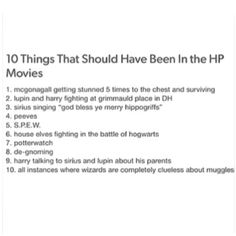 HP should be a Netflix Series, and every episode is a chapter depicted perfectly, as well as every season be one book.