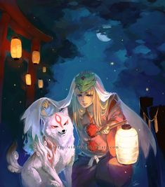 Okami - Summer Moon by *einlee on deviantART (Because I just finished this game and I need to pin something for it...)