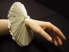 book bracelet for a fantasy costume that requires ruffs