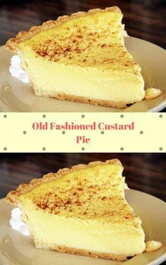 Old Fashioned Custard Pie A traditional egg, milk, and sugar based pie. A Than Old Fashioned Custard Pie A traditional egg, milk, and sugar based pie. A Thanksgiving dessert. Yummy Recipes, Tart Recipes, Baking Recipes, Sweet Recipes, Recipies, Just Desserts, Delicious Desserts, Yummy Food, Custard Desserts