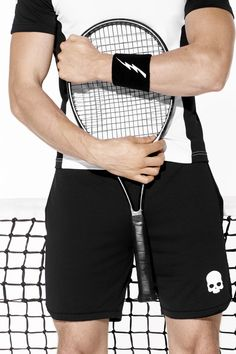 Explore the Hydrogen Tennis collection with the skull logo worn by Simone Bolelli.