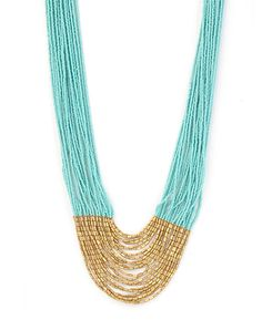 Aid Through Trade Tiered Hema Seed Bead Necklace