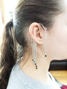 Chain Ear Cuff Wrap Around Earring by SerenityInChains on Etsy, $12.95