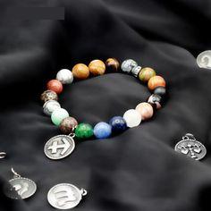 Strand Bracelets Diezi Vintage Men Natural Beads Couple Skull Crown Charm Bracelets For Women Zircon Strand Bracelets Pulseira Masculina Feminina Delicious In Taste