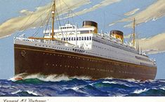 View of Cunard Ocean Liner Britannic 24x36 Giclee Gallery Print Wall Decor Travel Poster >>> AMAZON BEST BUY   #VintageKitchen