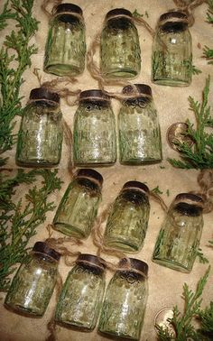 Miniature mason jars as LIGHTS on my kitchen tree ?? Yes, yes, and yes.