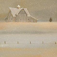 """Quiet Snow"" Old Barn on the Farm"