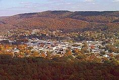 Aerial view of Fort Payne,... (Fort Payne is situated between two mountains which is (Sand Mountain, AL Rainsville, AL) and Lookout Mountain. Nice view driving down the mountain from Rainsville, AL.