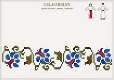 Folk Embroidery, Embroidery Patterns Free, Beading Patterns, Cross Stitch Embroidery, Embroidery Designs, Cross Stitch Borders, Cross Stitch Flowers, Cross Stitch Charts, Cross Stitch Patterns