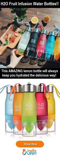 This AMAZING lemon bottle will always keep you hydrated the delicious way. A great companion for sports, yoga, gym and outdoor activities! #TastyWater