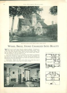 1927...100 bungalows of frame and masonry construction.