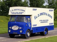 ERF was a British truck manufacturer. Established in 1933 by Dennis Foden, its factory in Sandbach, Cheshire was closed in and finished as a marque by owner MAN AG in Vintage Trucks, Old Trucks, Old Lorries, Cab Over, Heavy Machinery, Commercial Vehicle, Classic Trucks, Cars And Motorcycles, Vans