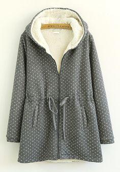 Grey Floral Coat