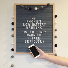 Offer Good Until They're Gone => This specific object for Car battery Display seems to be absolutely fantastic, must remember this when I've got a chunk of money saved up. Word Board, Quote Board, Message Board, Quotes To Live By, Life Quotes, Best Quotes, Funny Quotes, Licht Box, Felt Letter Board