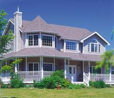 Elevation of Farmhouse  Victorian   House Plan 55006