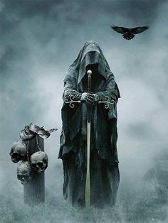 Dark Fantasy is the Best Fantasy Don't Fear The Reaper, Grim Reaper Art, Grim Reaper Tattoo, Death Reaper, Dark Fantasy Art, Fantasy World, Dark Art, Dark Gothic Art, Skull Art
