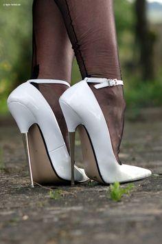 6ihf #StilettoHeels Pumps Heels, Hot Heels, Nylons Heels, High Heel Pumps, Stockings Heels, Sexy Heels, Stiletto Heels, Extreme High Heels, High Heel Boots