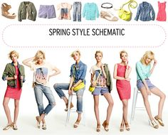 This is from last year, but a great guide.  How to mix + match 11 spring fashion essentials.