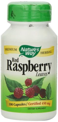 Nature's Way Red Raspberry Leaves , 450 mg, 100 Capsules
