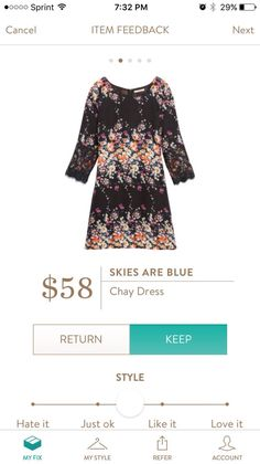 Stitch Fix Item: Skies are Blue Chay Dress #stitchfix